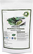 R V Essential Organic Moringa Powder 200gm/ 7.05oz/ 0.44lb- Moringa Oleifera Moringa Leaf Powder USDA Organic Certified Ayurvedic Herbal Supplement in Resealable and Reusable Zip Lock Pouch
