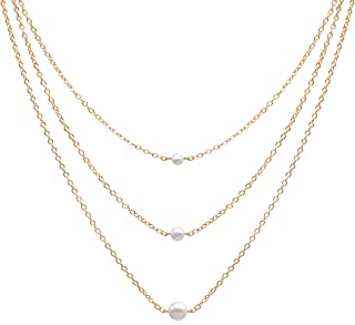 Best long pearl and gold chain necklace Reviews