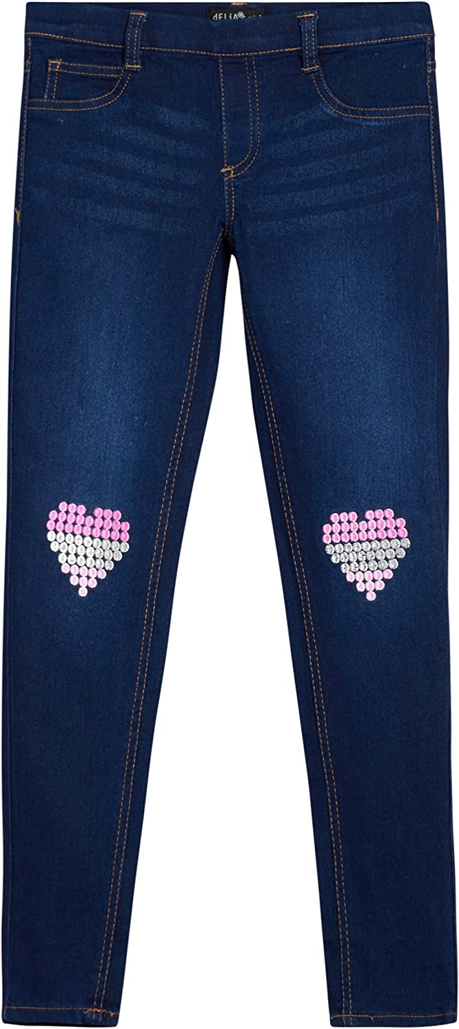 dELiAs Girls' Super Stretch Denim Jeans Las Vegas Mall Jegging with E Max 60% OFF Knee