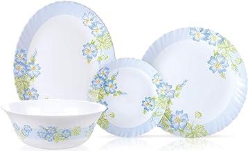 Endura Blue River 50 Pcs Dinner Set, K6197 Dinner Plate, Desert Plates, Salad Bowl, Multiuse Bowl, Soup Bowls, Oval Plate,...