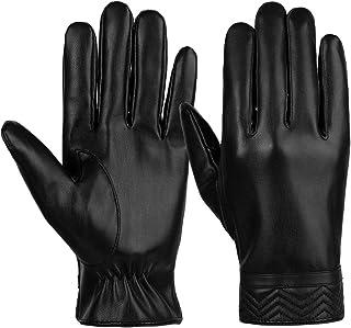 VBG VBIGER Men Warm Gloves Winter Touchscreen Gloves All Fingers Texting Gloves Driving Motorcycle Gloves Work Gloves Black
