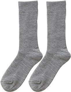 ひだまり ダブルソックス 紳士用 靴下[24~26cm] グレー