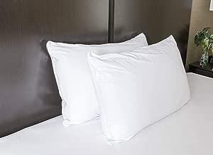 Kiara Furnishing Waterproof and Dustproof Cotton Pillow Protector,18 x 28-inch,Set of 2, Maroon