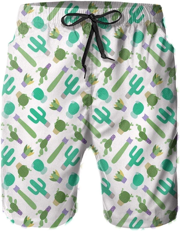 MUJAQ Upside Down Plants Graphic Design Gardening Greenery Flowers Cartoon Style Mens Swim Shorts Casual Workout Short Pants Drawstring Beach Shorts,XXL