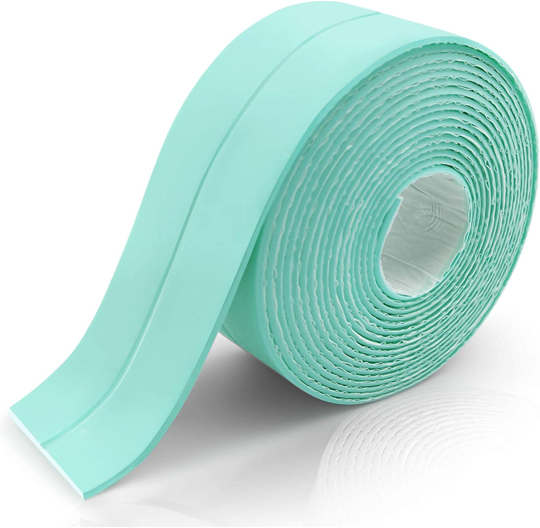 Caulk Strip 1.5 x 11Ft Toilet Beige Caulk Tape Caulking Sealing Tape for Kitchen Countertop Bathtub Floor Wall Edge Protector PE Self Adhesive Caulk Strip Sealing Tape for Bathtub Bathroom