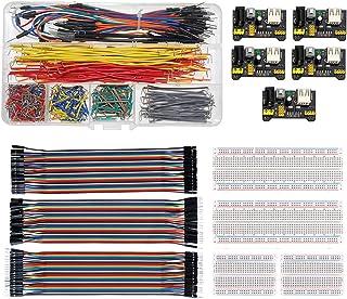 WayinTop Breadboard Jumper Wires Kit with Power Supply Module for Arduino, Preformed Breadboard Jumper Wires Kit + 3pcs 20...