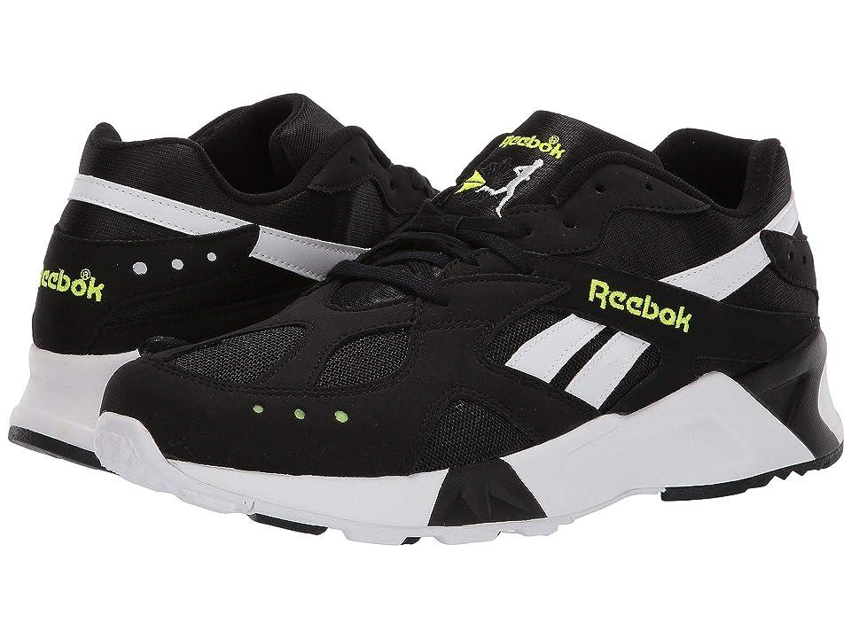 Reebok Lifestyle Aztrek (Black/White/Solar Yellow) Athletic Shoes