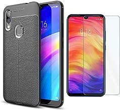 Abbeen Xiaomi Mi Mix 3 5G Case, [2 in 1] Ultra-Thin Carbon Fiber TPU Soft Case +9H Tempered Glass Screen Protector for Xiaomi Mi Mix 3 5G(Black)