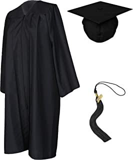 maroon graduation cap and gown