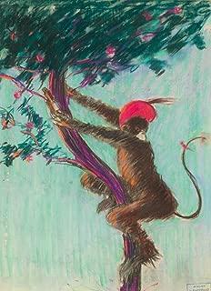 Singe du Campari maquette Vintage Poster (artist: Cappiello, Leonetto) France c. 1922 (24x36 Fine Art Giclee Gallery Print, Home Wall Decor Artwork Poster)