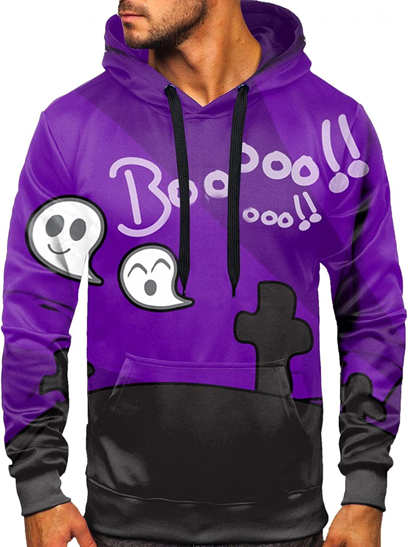 Men's Sweatshirts Portland Mall Halloween Long Sleeve Hooded Popular standard 3D Pullover Print