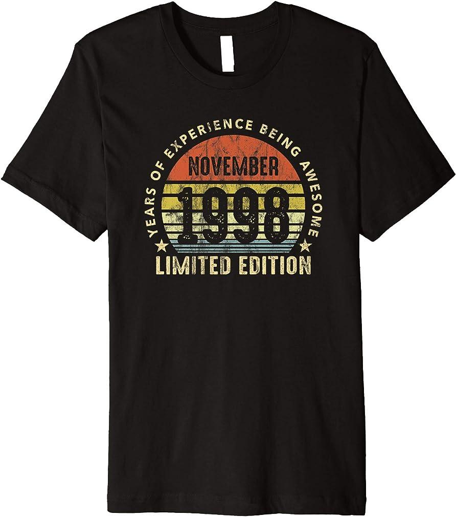 Born In November 1998 Sunset Limited Edition 22nd Birthday Premium T-shirt