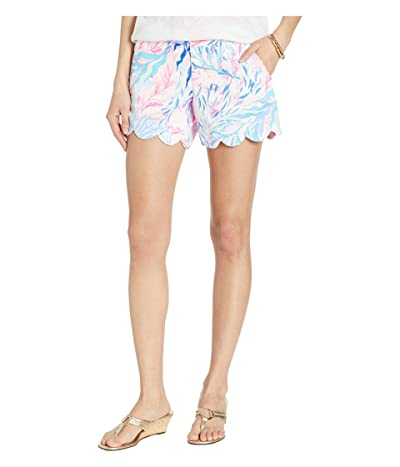 Lilly Pulitzer Buttercup Stretch Shorts (Crew Blue Tint Kaleidoscope Coral) Women