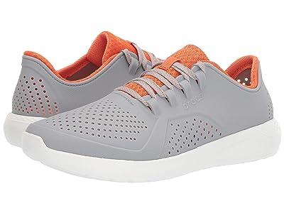 Crocs LiteRide Pacer (Light Grey/Orange) Men