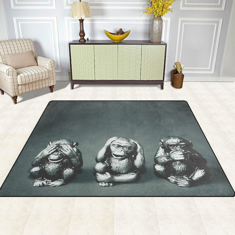 FAJRO Three Wise Monkey Rugs for entryway Doormat Area Rug Multipattern Door Mat shoes Scraper Home Dec Anti-Slip Indoor Outdoor