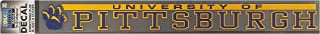 ColorShock Pittsburgh Panthers Decal Strip - Mascot W/University Of Pittsburgh Panthers