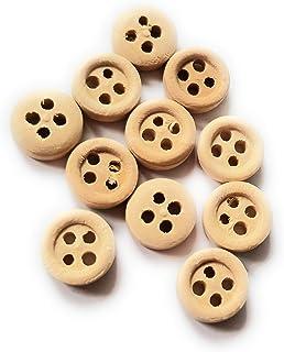Botones de Costura Redondos de Madera con 4 Agujeros CUHAWUDBA 20 Unidades, 35 mm