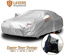 Color : Black Car Cover Compatible avec Nissan 350Z coupe-vent anti-poussi/ère r/ésistant aux rayures UV ext/érieur Protection All Weather pleine Covers voiture