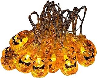 Pumpkin String Lights CFTech 10 ft 20 LED Fairy Lights Battery Operated Waterproof for Halloween Celebration Lighting, Warm White (3M 20 Lights)