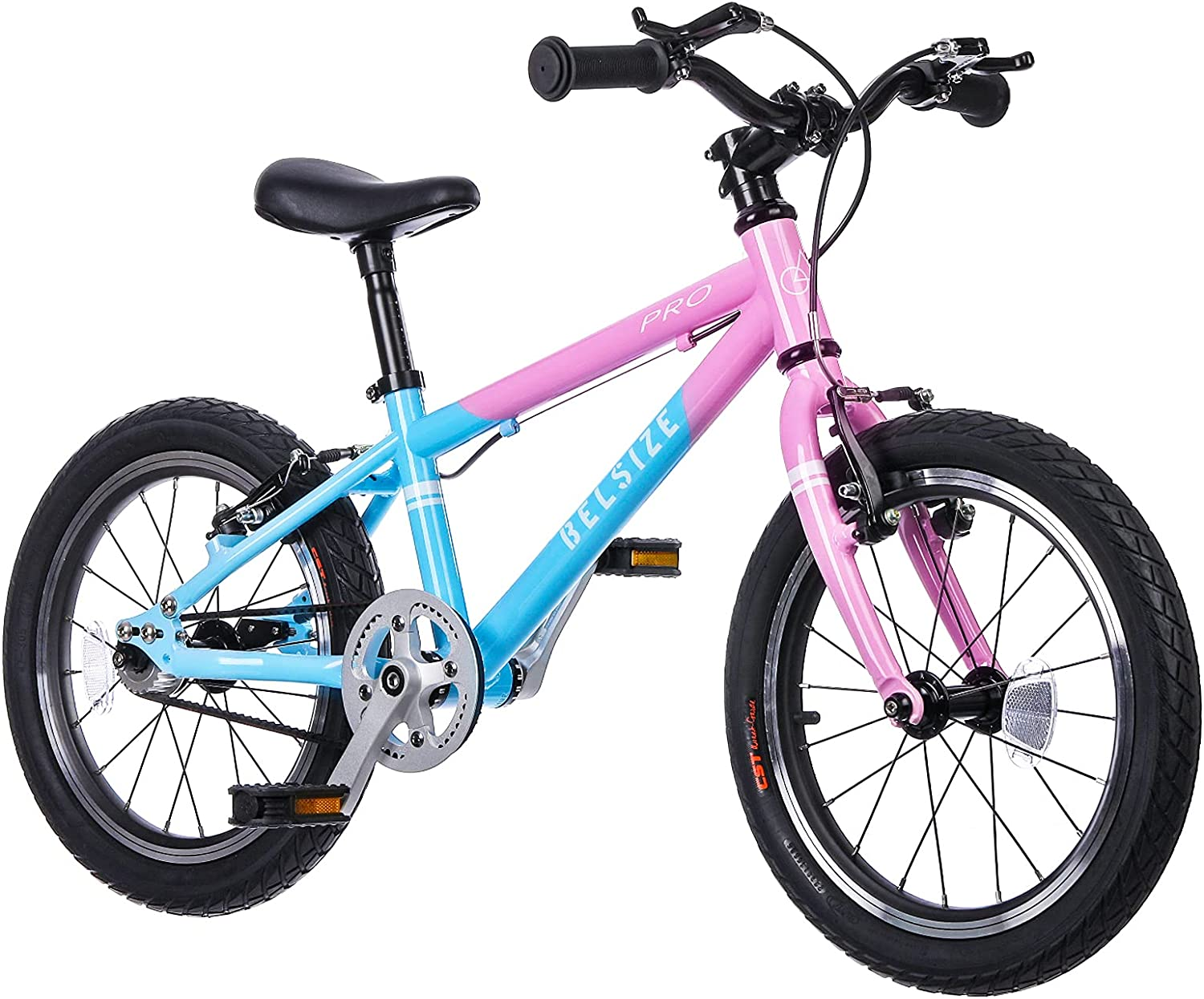 BELSIZE 16-Inch PRO Belt-Drive Kid's Bike, Lightweight Aluminium Alloy Bicycle(only 13 lbs) for 3-7 Years Old
