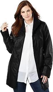 Women's Plus Size A-Line Leather Jacket