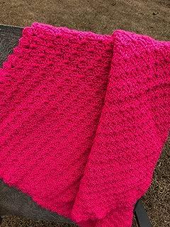 Handmade Pink Baby Afghan Throw Blanket