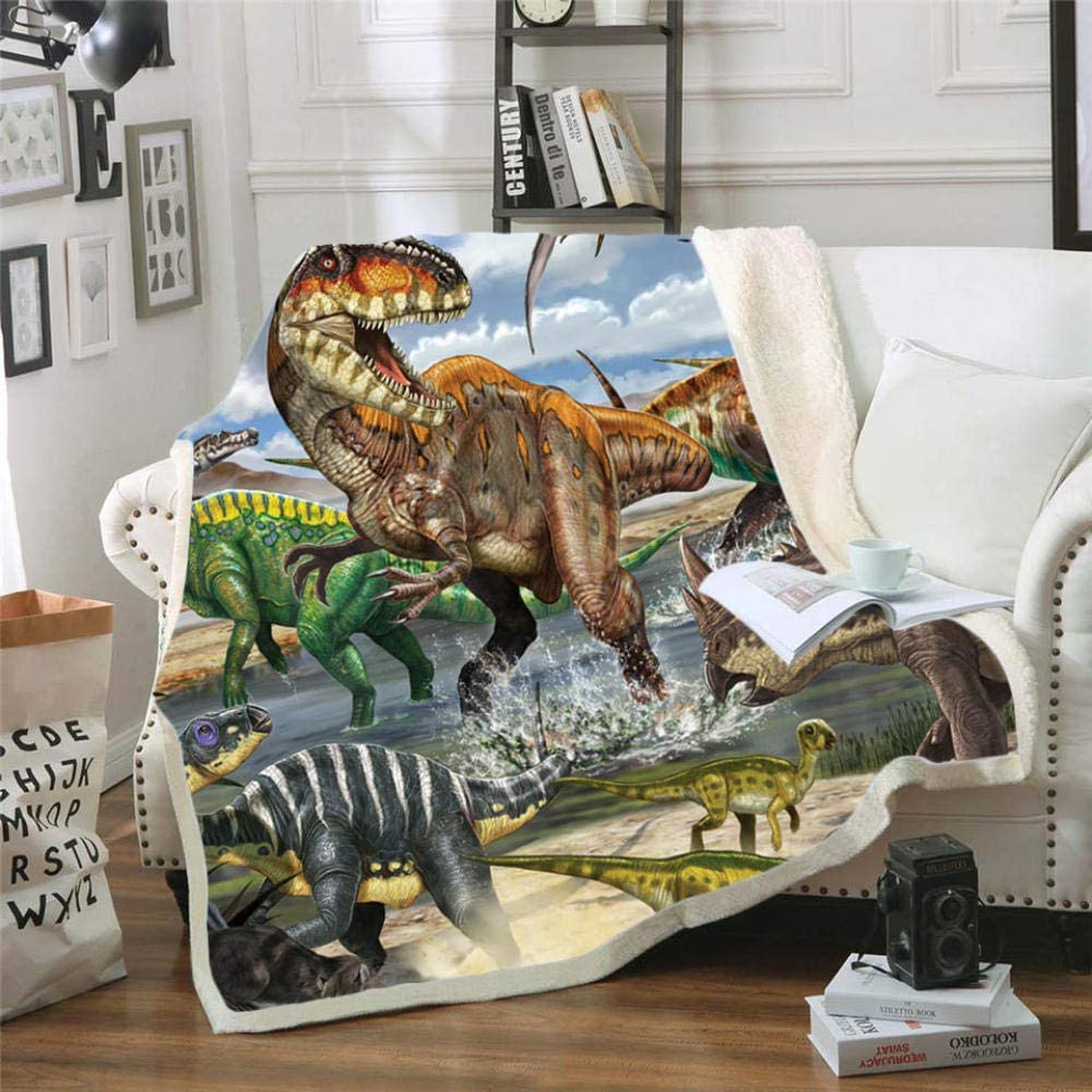 YPDWYJL 3D Max 88% OFF Sofa Limited price Blanket Large HD C Printing Bed Dinosaur