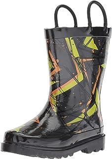 Western Chief Boys' Waterproof Printed Rain Boot, X3, 13/1 Medium US Little Kid