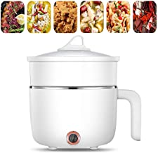 Casserole électrique Avec Cuiseur Vapeur Multifonctions électrique Sauteuse Mini Hot Pot 1.5L Petit Poêle Frire Pot Soupe ...