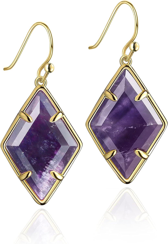 okokiss Handmade 2021 model Gemstone Dangle Drop Earring - 18K Women for favorite Go