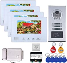 HBHYQ 4 Unidades Apartamento Autobús Apartamento 2 Sistemas de intercomunicadores de teléfono de Video de Video de 2 Pulga...