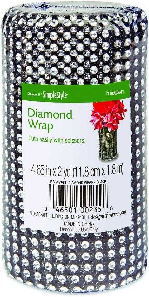 FloraCraft Diamond Wrap Under blast sales 4.6 Inch Black x Sale item 2 Yard