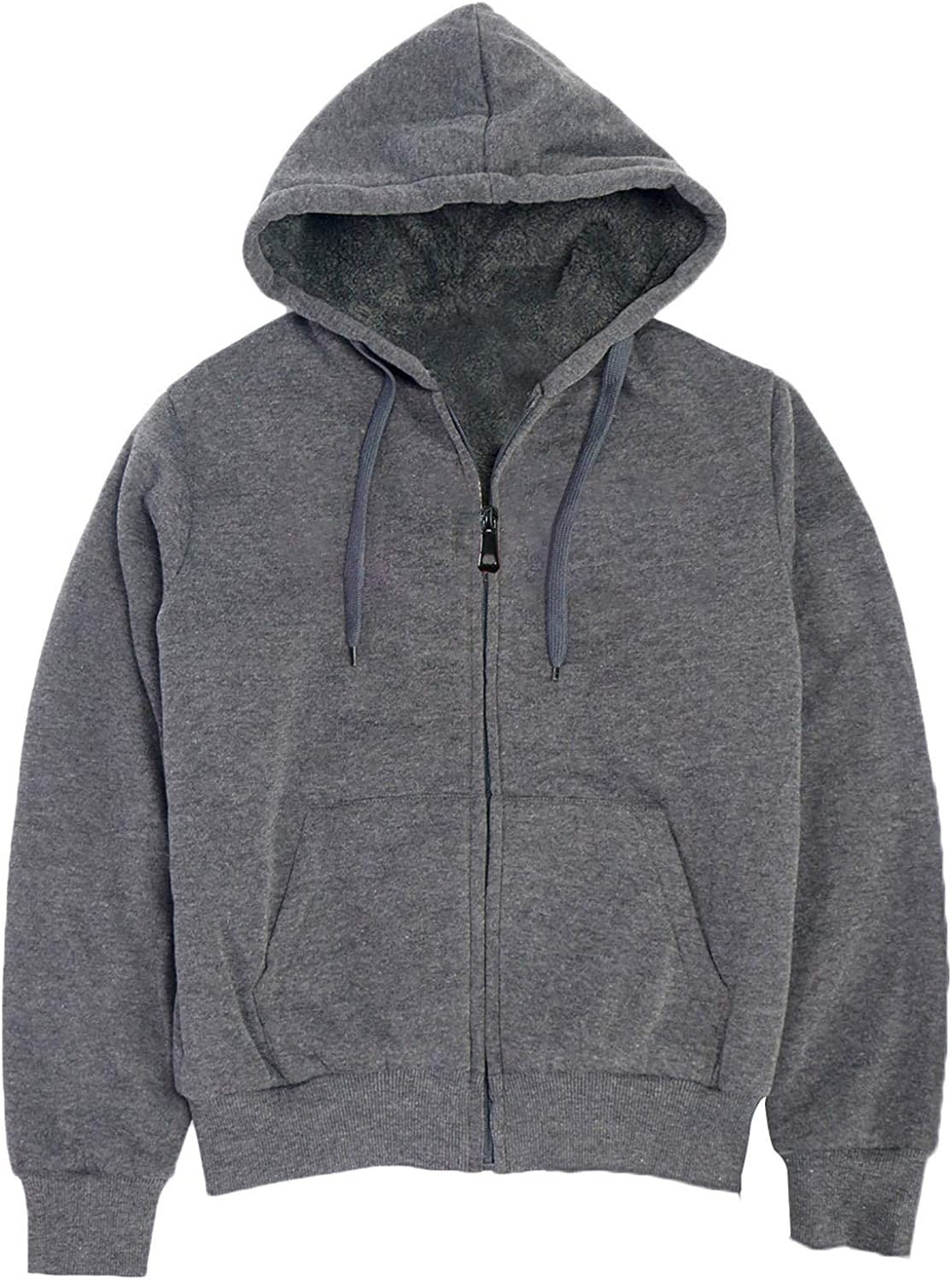 Boys' Sherpa-Lined Fleece Zip-Up Hoodie Kids Youth S Sweatshirts All items free Online limited product shipping