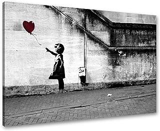comprar comparacion Visario Cuadros en Lienzo Banksy 80 x 60 cm Nr. 4165 Cuadro Abstracto