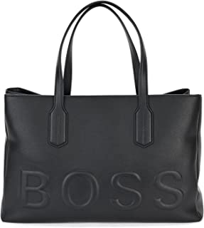 BOSS Damen Olivia Tote-EL Tote Bag aus Kunstleder mit tonalem Logo