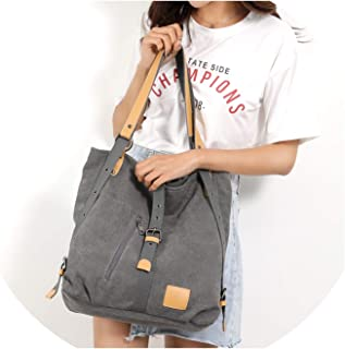Light Weight Large Capacity Solid Color Shoulder Bag Stylish Canvas Open Handbag Hand Bag-In Top