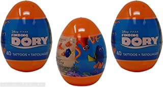 Prefilled Jumbo Easter Eggs with Tattoos, Finding Dory - Easter Basket Stuffers 3 Pack