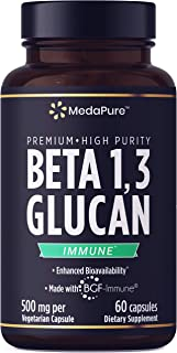 Sponsored Ad - 100% Pure Beta Glucan 1 3D by MedaPure 1,000 mg 60 Capsules Gluten-Free Non-GMO Verified Fermented BGF-Immu...