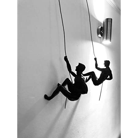 Haute Collage Duo de Rappel de Escalada en Bronce Adornos Colgantes Figuras Conjunto de Dos escaladores Wall-Art Colgante de Pared Hombre con Cable de ...