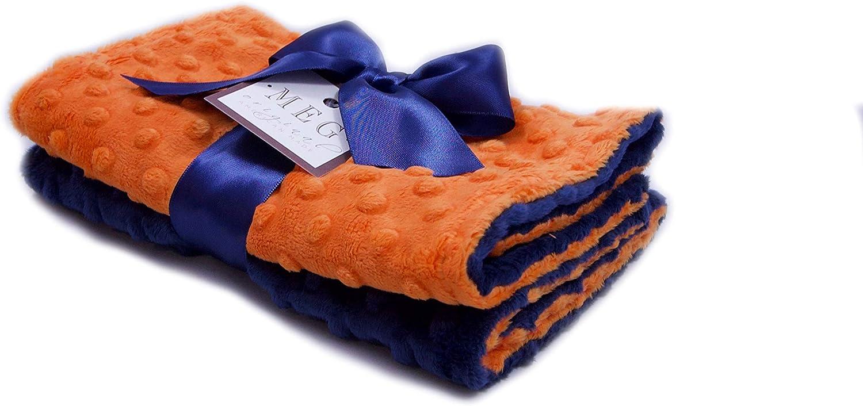 MEG Original Super beauty Max 85% OFF product restock quality top Orange Navy Blue Baby Burp Set Cloth Feeding