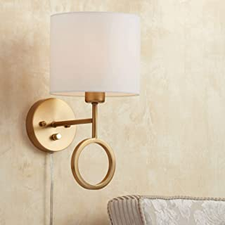 plug in wall sconce with shade