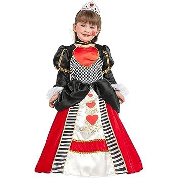 chiber Disfraces Disfraz de Dama de Corazones para Niña (Talla 8 ...