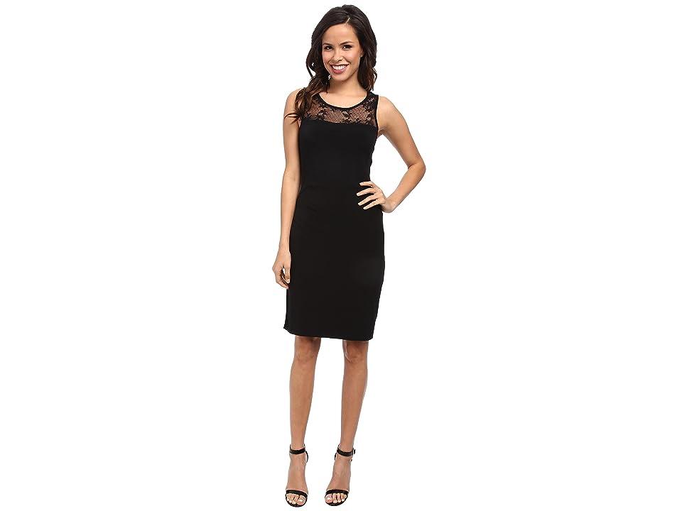 Velvet by Graham & Spencer KITO02 Round Neck Tank Dress (Black) Women