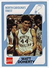 Matt Doherty (Basketball Card) 1989-90 North Carolina Collegiate Collection Coca-Cola North Carolina's Finest # 62 NM/MT