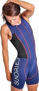 Sundried 女式优质加垫铁人三项套装压缩运动游泳自行车套装