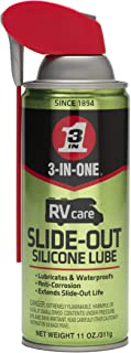 3-IN-ONE RVcareSlide-Out Silicone Lube with SMART STRAW SPRAYS 2 WAYS, 11 OZ [6-Pack]