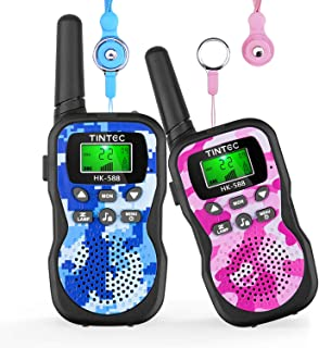 Tintec Walkie Talkies for Kids, Upgrade Camouflage Exterior Vox Box Voice Activated 22 Channels 2 Way Radio Toy with Backlit LCD Flashlight, 3 Miles Range for Outdoor Adventures, Camping, Hiking