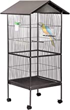 BestPet Large Bird Cage Suger Glider Cage Heavy Duty Conure Parrot Finch Flight Cage for Budgie Parakeet Cockatoo Cocatiel with Wooden Perch Storage Shelf, 61 inches