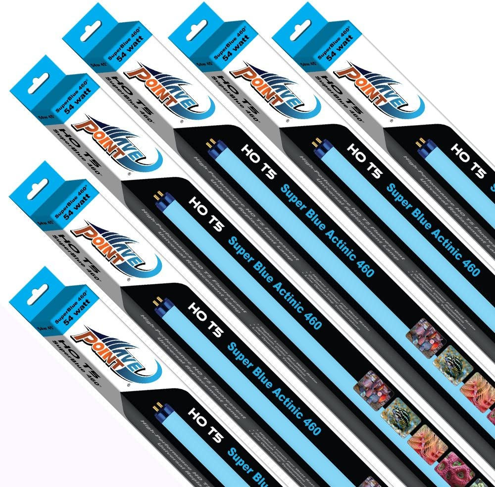 Wave Point 6-Pack Super Blue Today's low-pricing only Aquarium 54-Watt Universal 460 Lamp