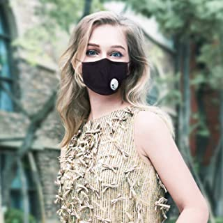 PM2.5 Anti Pollution Dust Mask with Respirator Activated Carbon Filters for Men Women by SKYNEW (Mask+Filter)